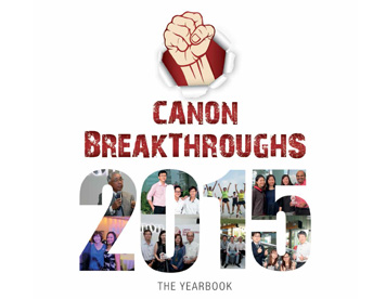 Canon Breakthroughs 2015 Yearbook