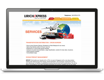 Lirich Express Website